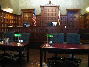 Courtroom for Disability Hearing